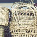 セリア かごバッグ、籠