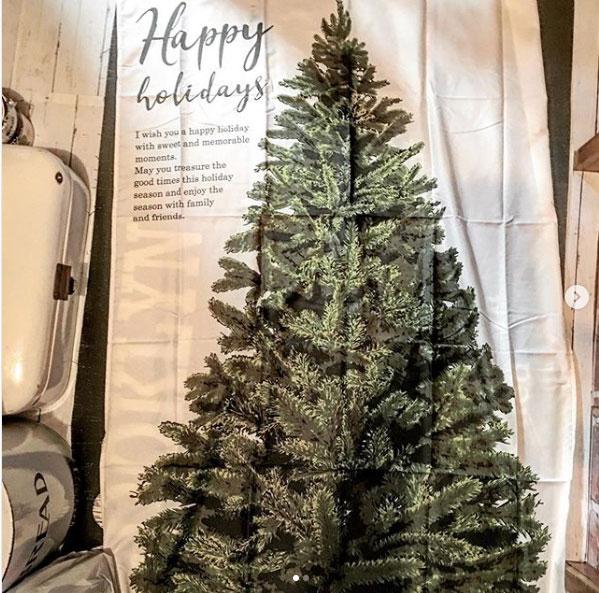 クリスマスタペストリー ファブリックツリー