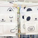 【ダイソー】うさぎとパンダのウォールポケットと耳付きボックス