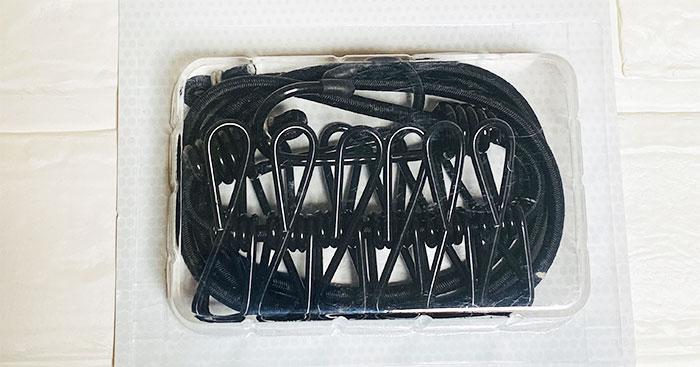 セリア ゴムロープ(ピンチ付)