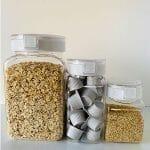 ダイソー「ワンプッシュで開閉できる保存容器」全4種類